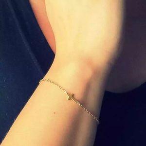 mam262 Jewelry - Gold Cross Bracelet